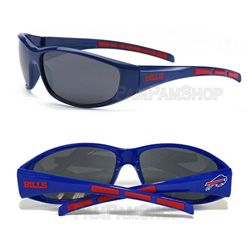 NFL Football 3 Dot Sports Wrap Sunglasses - Team Logo / Buffalo - Sunglasses Three Dot