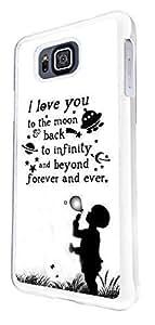 Te amo hasta la luna y hacia atrás hasta infinito y más allá 208 Diseño Tendencia Moderno Samsung Galaxy Alpha Alfa G850F Estuche Trasero Funda Carcasa De Plástico Y Metal