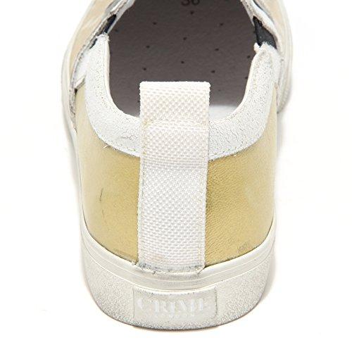 Bianco Scarpe oro 3648l Women Donna Slippers Sneakers Crime Shoes nA0xH1nZ