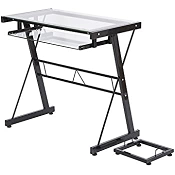Amazon Com Space Saver Computer Desk Black With