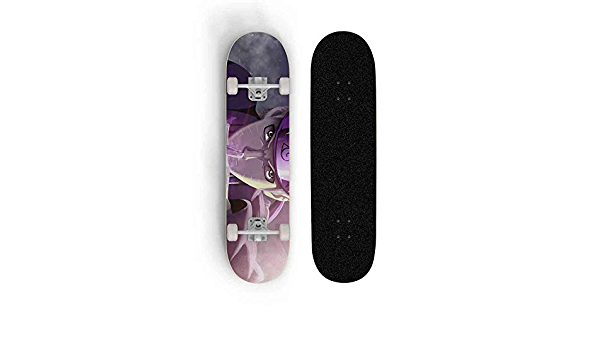 FWAHB Naruto: Uzumaki Naruto Doppel Tilt vierr/ädrigen Motorroller Skateboard Au/ßenextremsport Longboard Junge und Teenager-Geschenk Anf/änger Skateboard