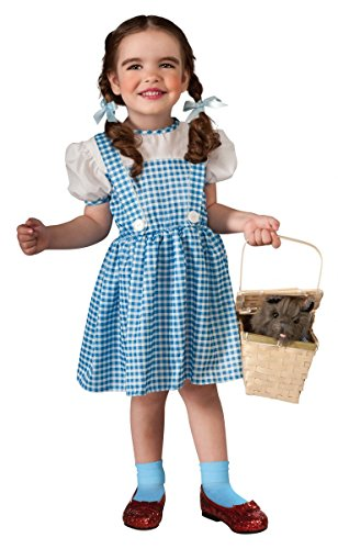 [Wizard of Oz Dorothy Costume, Sky Blue / White, Toddler (Sizes 2-4 / Ages 1-2)] (Dorothy Party City Costume)