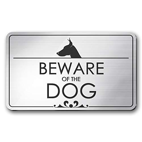 - Beware of The Dog Laser Engraved Sign - 3