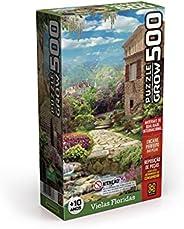 Quebra-cabeças Grow 500 peças: Vielas Floridas (exclusivo Amazon), Multicor