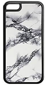 Marble-Look Case for the APPLE IPHONE 6 ONLY-Hard Black Plastic Outer Case by ruishername