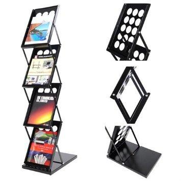 4 Pocket Folding Literature Rack Brochure Stand Display Holder UNITECH UTP35BRH005-4MA4