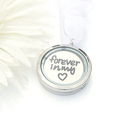(Picture Frame Bouquet Charm - Memory Locket - Forever in my heart)