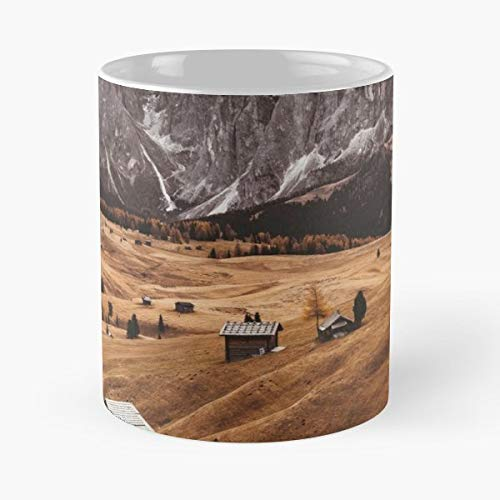 Log Cabin European Alps Alto Adige - Ceramic Mugs