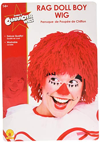 (Rubie's Rag Doll Male Yarn Wig, Red, One)