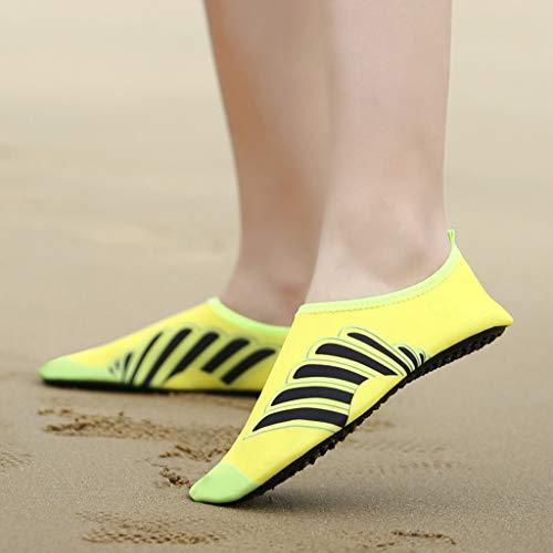 Men Women Yoga Water Shoes,Couple Summer Quick Drying Aqua Socks Barefoot Outdoor Beach Swim Slip-Proof Diving Shoes by Dacawin-Water Shoes (Image #3)