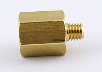 """Reducer 1//8/"""" NPT Male to 10-32 UNF Male Brass Pipe Adapter Straight L-6T"""