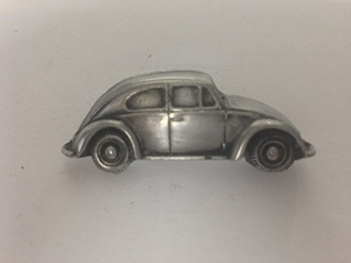 Oval Window Beetle - VW Beetle (Oval Rear Window) 3D pin badge car pewter effect pin badge ref291 by prideindetails
