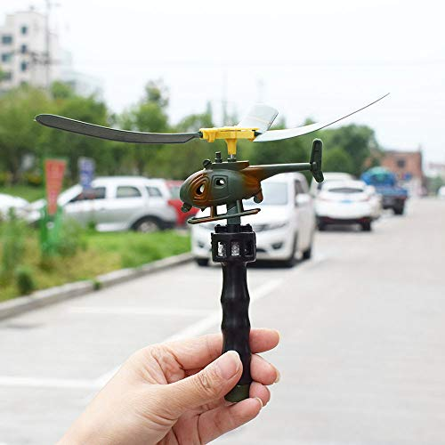 DICPOLIA Toys Flying Pullback Launch Action Helicopter with Propellers Funny Kids Outdoor Toy (As Shown) ()
