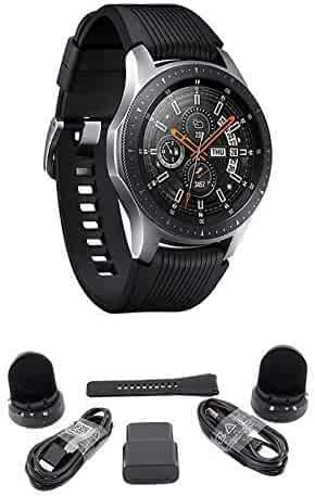 Samsung Galaxy Watch (46mm) Silver (Bluetooth), US Version Bundle with 2 Charging Docks (Renewed)