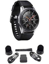 Galaxy Watch (Bluetooth), US Version Bundle with 2 Charging Docks (Renewed) (Silver, 46mm)