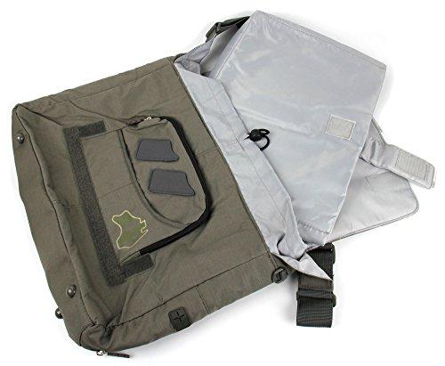 DURAGADGET Schwarze Laptoptasche mit Banddesign für Acer TravelMate P253/TravelMate TimelineX - gepolstert und wasserabweisend Kaki / Globetrotter