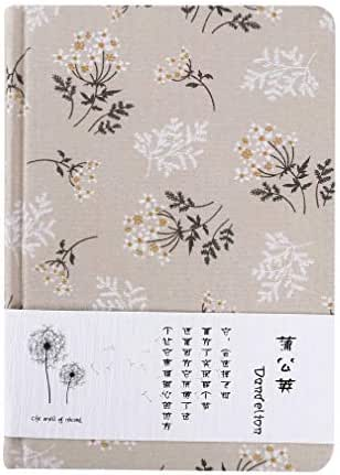 GUAngqi Vintage Writing Cloth Cover Notebook Journal Flower Pattern Notepad Diary Book