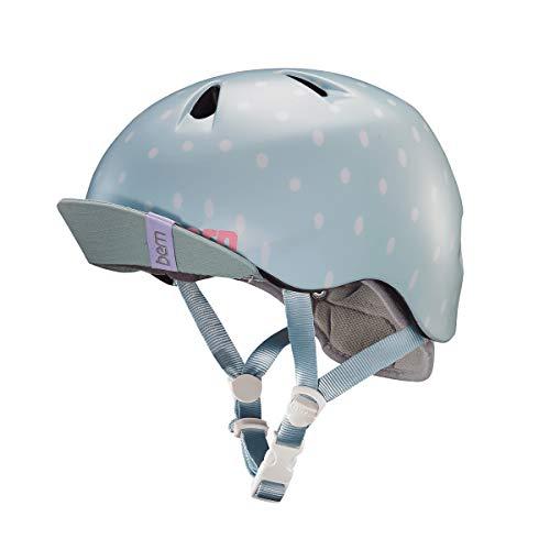 BERN - Kid's Nina Helmet, Satin Seaglass Polka Dot w/Flip Visor, XS/S