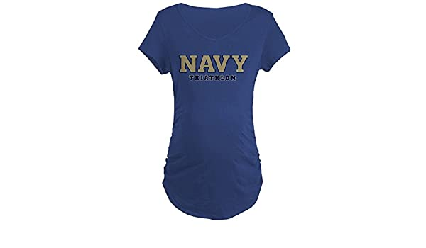42416e7f Amazon.com: CafePress - US Naval Academy Triathlon - Cotton Maternity T- Shirt, Side Ruched Scoop Neck Navy: Clothing