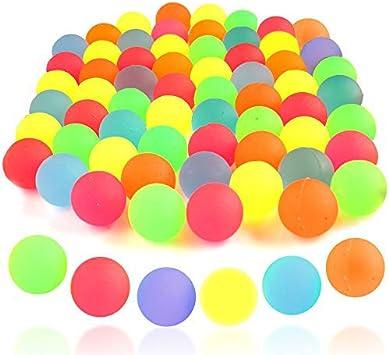 85 Mini Jouets de Balles Rebondissantes au Néon pour Enfants, 25mm| Brille dans le Noir, Couleurs Vives, Non Toxique| Fête Anniversaire Halloween Noël Pinata Pochettes Surprise Sachet Cadeaux.