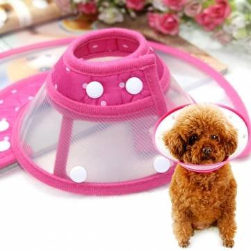 Pet Dog Cat Elizabethan Bite-Proof Collar Wound Healing Cone Protective Collar Health Beaty Tool -