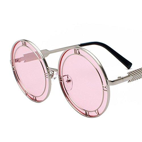 Aoligei Decrits lunettes rondes verres visage rond rétro européens et américains de personnalité lunettes de soleil alphabet nnaJclp8