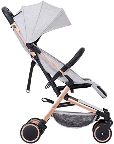 Baby Stroller Folding Pushchair Lightweight Infant Travel Buggy from Birth to 15 Kg Buggy,40x100cm yangmi (Color : Gray1…