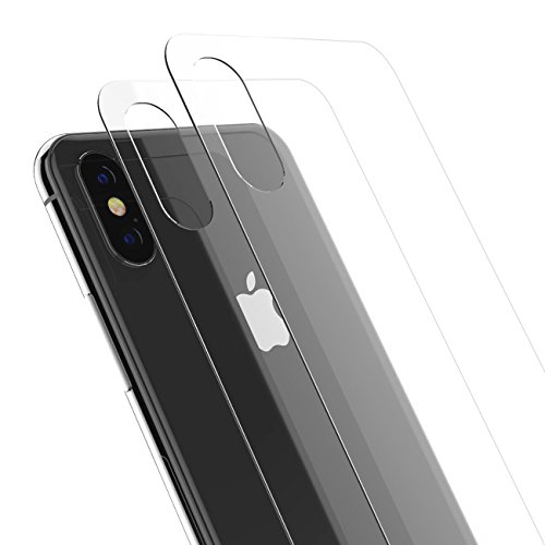 iPhone X/XS Back Glass Protector, Kolpop 2.5D iPhone X/XS Tempered Glass Back Protector, Anti-Fingerprint Case Friendly Anti-Scrath Slim Back Glass Protector Film for iPhone X/XS (Clear)