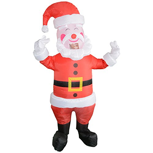 Wecloth Christmas Inflatable Santa Claus Blow Up Adult Fancy Dress Costume XMAS (Inflatable Santa Costume)