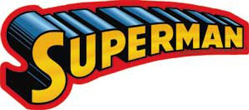 Licenses Products DC Comics Superman Text Logo Sticker