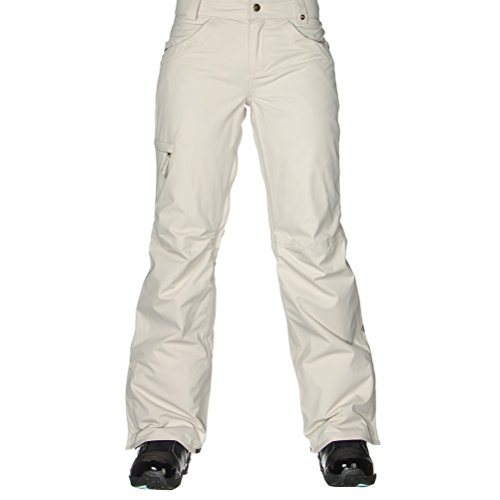 686 Womens Snowboard Pants (686 Women's Authentic Patron Insulated Pant, Large, Ivory Herringbone)