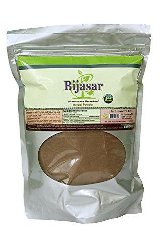 Bijasar Powder (Heartwood) (Pterocarpus Marsupium) (Ayurvedic Formulation) (Wild Crafted from natural habitat) 16 Oz, 454 Gm, 2x (Optimum Potency)