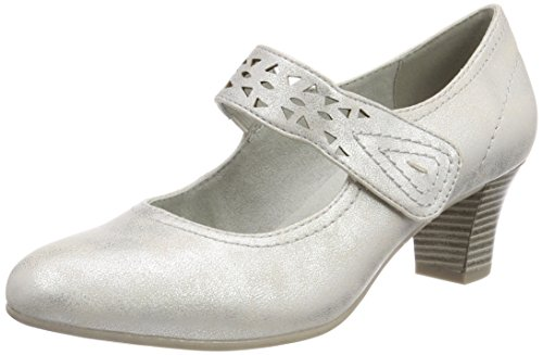 Softline Damen 24462 Pumps silber (white/silver)