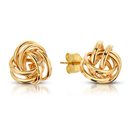 Art and Molly 14k Yellow Gold Love Knot Earrings (Knot 14k Gold Earrings Yellow)
