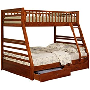 Amazon Com Twin Full Size Bunk Bed With Storage Drawers