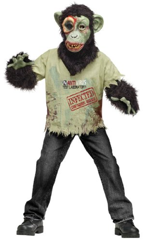 Zombie Chimp Children's Costume Medium (Zombie Chimp Child Costumes)