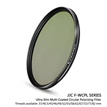 JJC 62mm 18-Layer Circular Polarizer CPL Filter for Lens with 62mm Filter Thread - e.g. for Fuji Fujifilm XF 23mm f/1.4, XF 55-200mm, XF 56mm, GF 63mm f/2.8, Nikon AF-S VR Micro-NIKKOR 105mm Lens