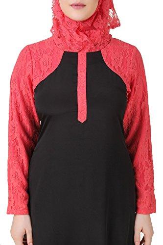 Frauenabnutzung maxi AY u Rosafarbene 517 u burqa abaya schwarze Formale beiläufige MyBatua moslemische Fqv0PRF