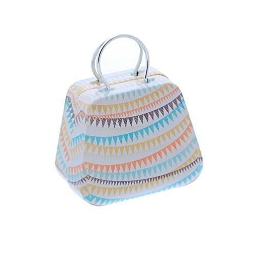Rectangle Boxed (Haotfire Mini Small Vintage Cartoon Tin Box Suitcase Handbag Small Rectangular Candy Box Tin Container Jewelry Coin Storage)