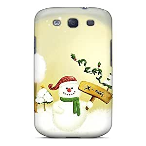 Fashion Protective Merry Christmas Case Cover For Galaxy S3