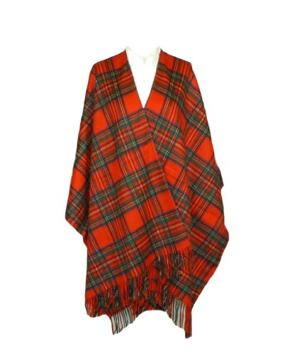 Oxfords Cashmere Pure Cashmere Ladies Ruana Cape, Royal Stewart-One Size by Oxfords Cashmere