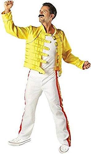 Freddie Mercury Halloween Costumes (Freddie Mercury Costume - Standard - Chest Size 44)