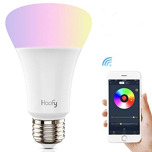 WiFi Smart LED Lampe, Haofy RGB LED Leuchtmittel E27 Glü hbirne Smart WiFi Bulbs 5 W Drahtlose Tageslicht & Nacht Licht Haus Beleuchtung Smartphone Kontrollierte fü r iOS/Android mit  Echo Haofy WiFi Smart LED Lampe