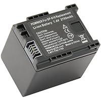 STKs Canon BP-819 Battery - 2700mAh for Canon XA10, Vixia HF G10, HF M40, HF200, HF10, HF20, HF S21, HF M41, HF S100, HF S200, HF M400, HF100, HG20, HF S20, HF S30, HF S10, HF11, HG21, HF S11, M31, M300, M30, CG-800
