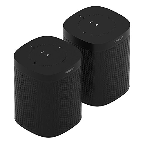 2-Pack of Sonos One – Voice Controlled Smart Speakers with Amazon Alexa Built In (Black)
