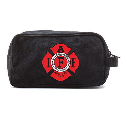 IAFF Int.Association of Fire Fighters Dual Compartment Toiletry Bag, ()