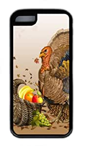 Fruit Happy thanksgiving TPU Black Case for iphone 5C/5