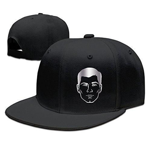 archer-danger-zone-logo-platinum-style-baseball-snapback-cap-black