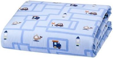 Cirque Crib Sheet Transportation–Blue by Cirque
