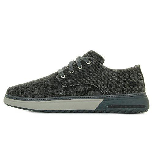 Skechers Folten Noir Mens Shoes brisor Canvas P5wTPrBxq